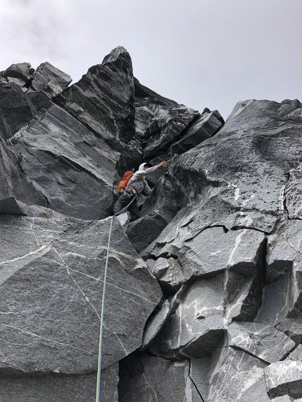 lieback, trad climbing, mountaineering, picket range, cam, alpinism, southern pickets, skagit, gniess, granite, trad climbing