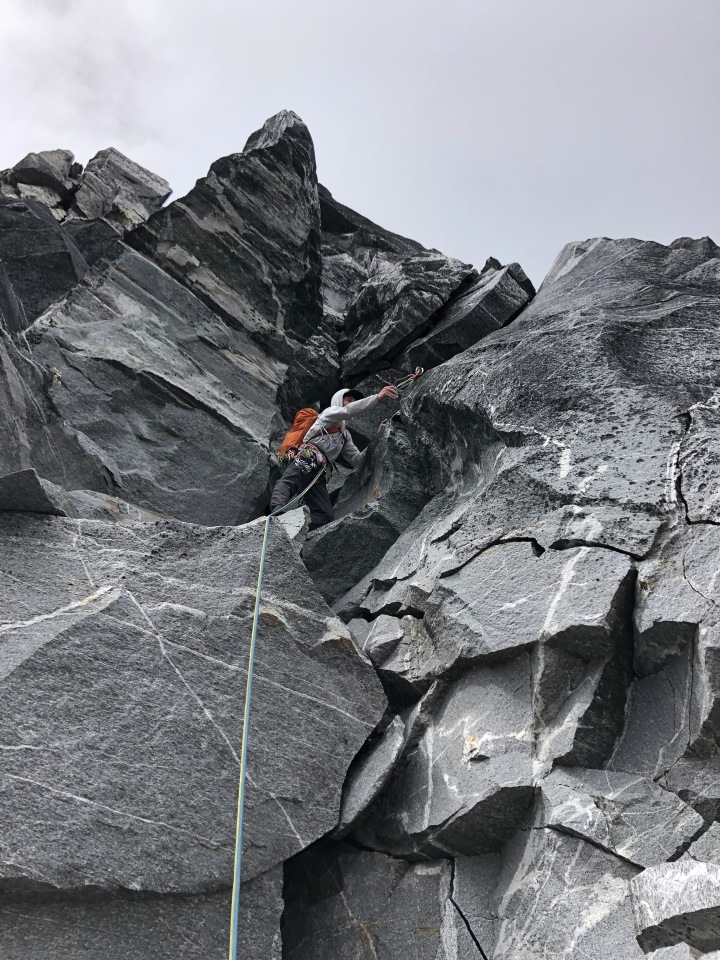 lieback, trad climbing, mountaineering, picket range, cam, alpinism, southern pickets, skagit, gniess, granite, trad climbing